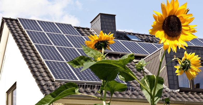 emplacement pour les panneaux solaires