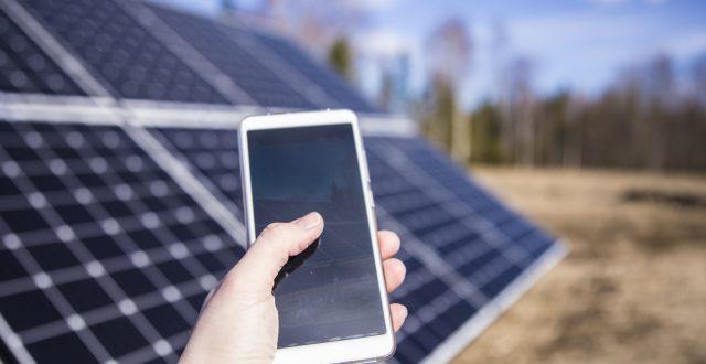 application sur iPhone pour rendement panneaux solaires