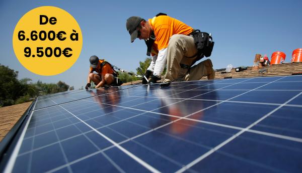 Le prix pour des panneaux solaires débute à partir de 6.600€