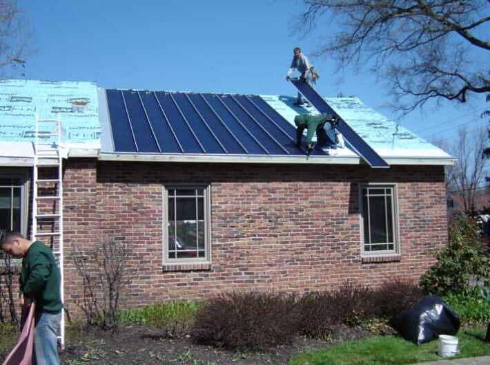 exemple d'installation de toit solaire