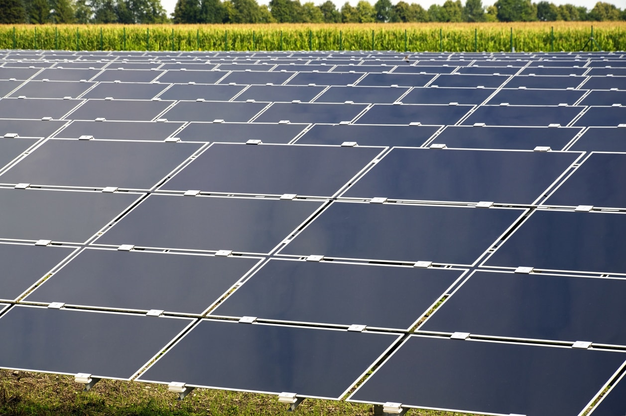 Energie solaire produite au travers de panneaux solaires
