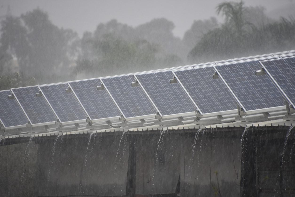 Energie solaire possible même par temps de pluie