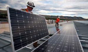 électricité photovoltaïque grâce à des panneaux solaires