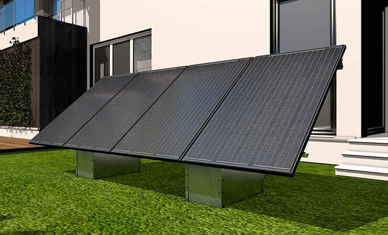 support panneau solaire avec fixation sans fondation