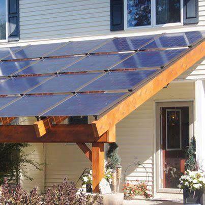 auvent panneaux solaires